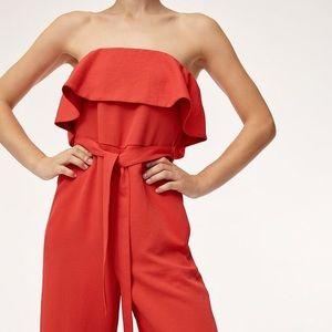 Red Aritzia jumpsuit